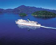 Interislander Ferry in Marlborough Sounds