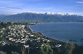 Kaikoura and Snowcapped Kaikoura Ranges