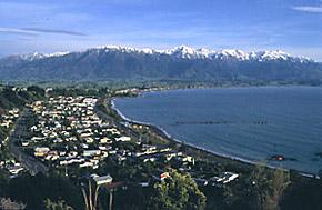 Kaikoura and Snowcapped Kaikoura Ranges