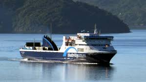 Bluebridge Ferry in Wellington Harbour