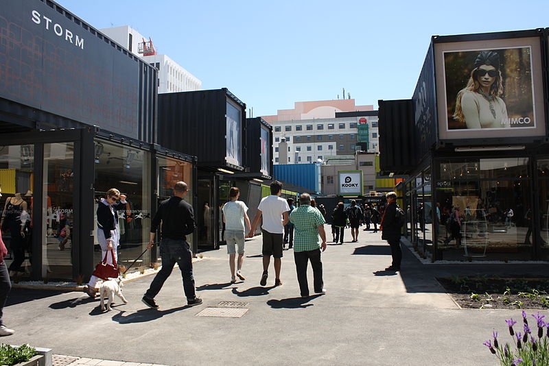 Cashel Street Mall in the central city