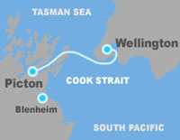Cook Strait Ferry Route