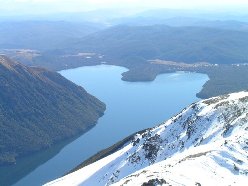 Nelson Lakes National Park from Mt Rotoiti