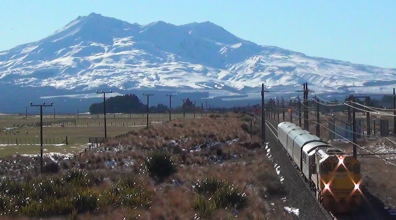 Northern Expoer Train near Mt Ruapehu